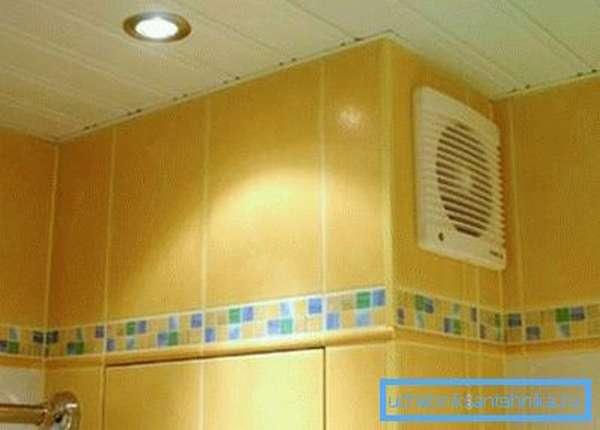 Вентиляционная решетка 200 на 200 с осевым вентилятором в ванной