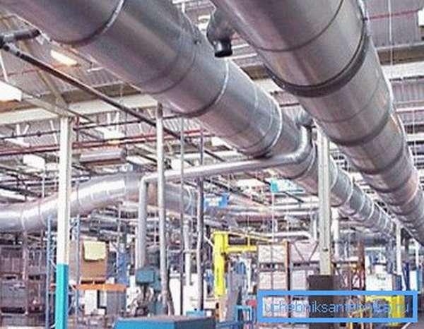 Вентиляционная система подбирается исходя из условий производства