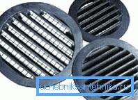 Вентиляционные круглые решетки разных размеров