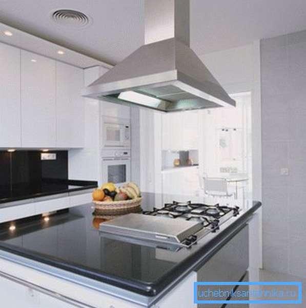 Вентиляция над кухонной печкой
