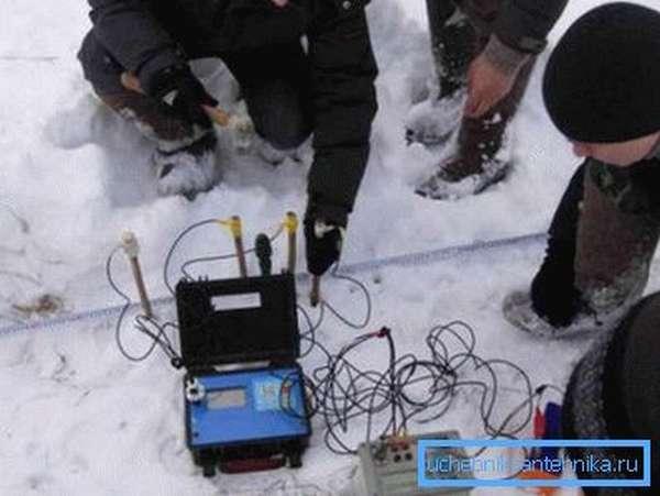 Вертикальное электрическое зондирование.