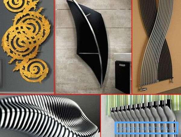 Внешний вид радиаторов отопления из алюминия может быть различным