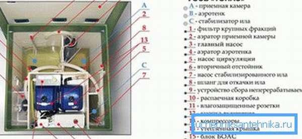 Внутреннее устройство септика