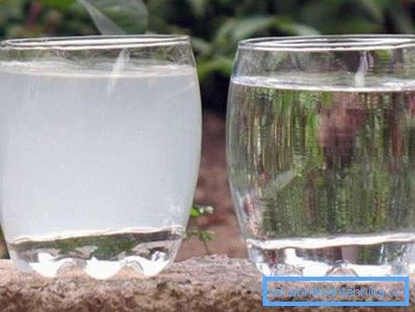 Вода с крана содержит большое количество хлора