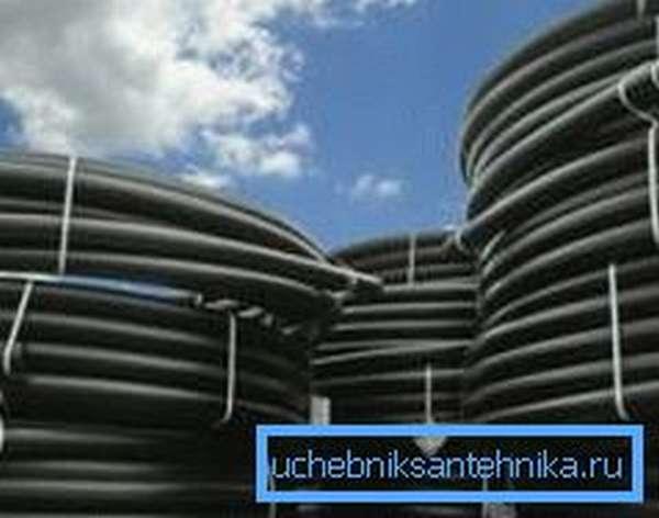 Водоподъемные трубы для скважин из полиэтилена низкого давления