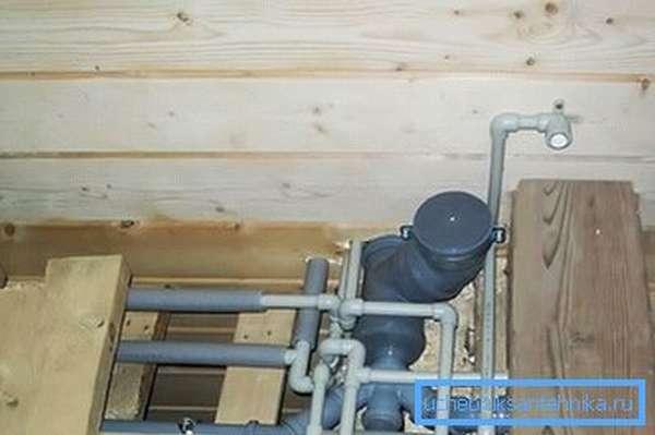 Водопровод и канализация в деревянном доме