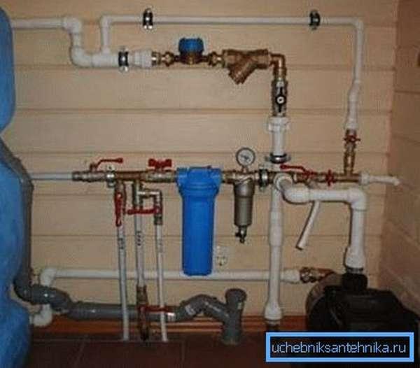 Водопровод в деревянном доме из полипропилена
