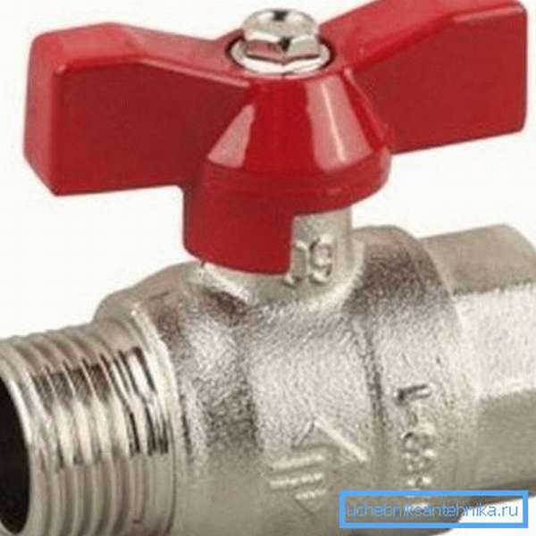 Водопроводный кран 3 4 с внутренней и внешней резьбой