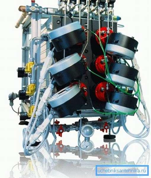Водородный отопительный котел готов к работе