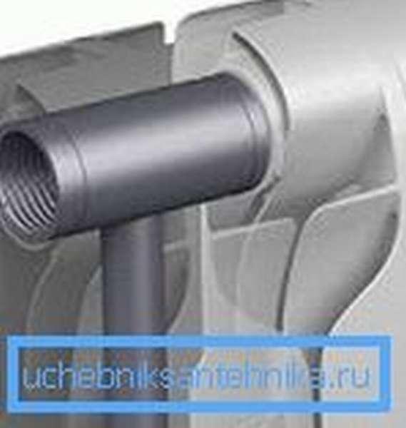 Вот так выглядят радиаторы биметалл 350 мм изнутри