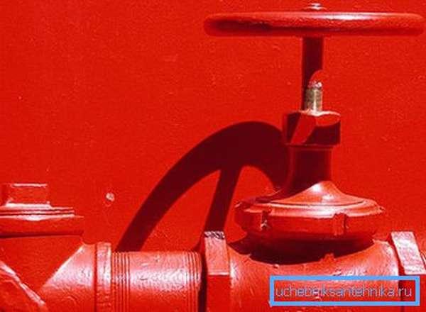 Все наружные элементы системы для большей заметности красятся в красный цвет