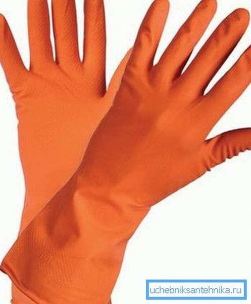 Все работы выполняем только в перчатках!