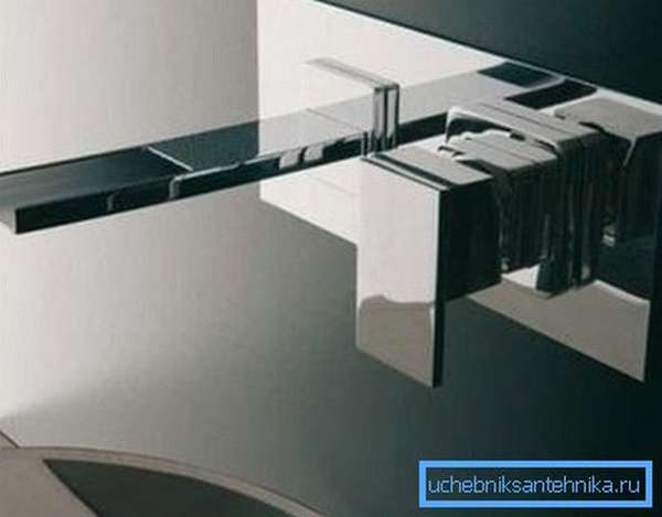 Встроенный в стену смеситель представляет собой унитарное произведение искусства, которое сможет преобразить любое помещение