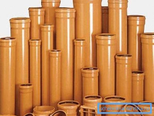 Выбирайте трубы нужного вам диаметра