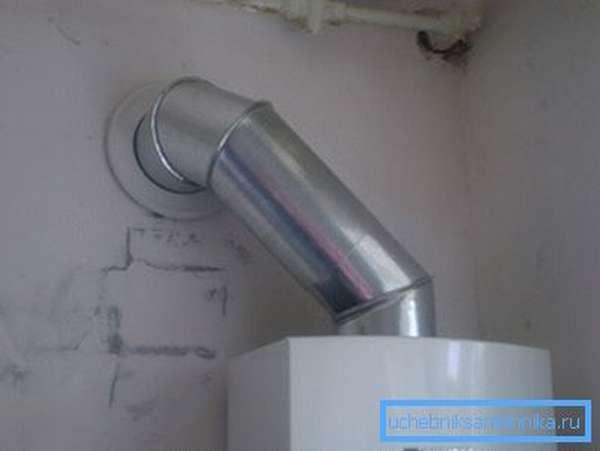 Вытяжная труба газового котла