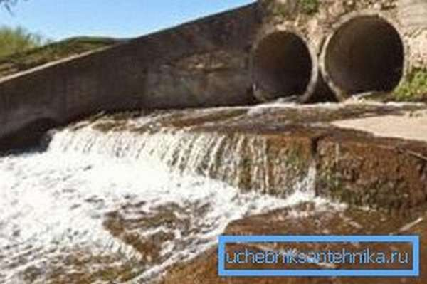 Вывод городских канализационных стоков