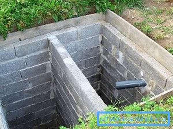 Яма, обложенная блоками