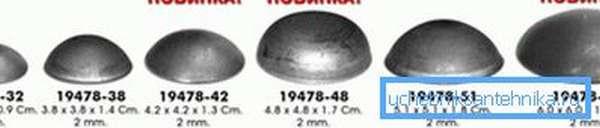 Заглушки на стальные трубы разных размеров