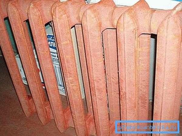 Загрунтованный и готовый к покраске радиатор МС 140м