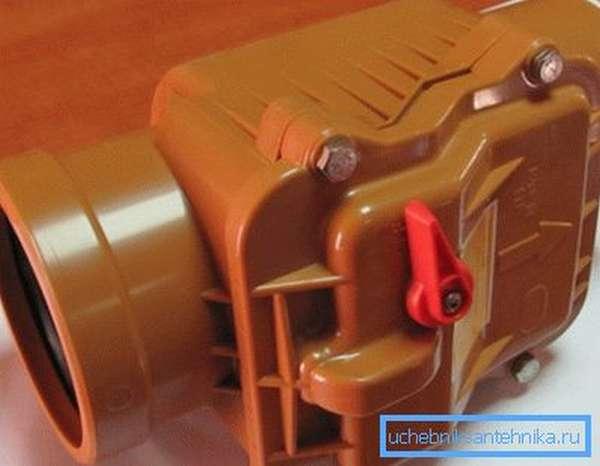 Запорная арматура для канализационных систем из поливинилхлорида