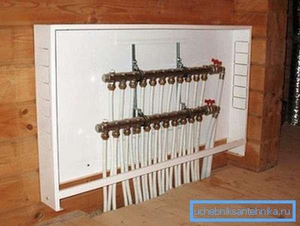 Запорная арматура в системе отопления.