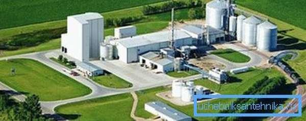 Завод по производству биотоплива из целлюлозы