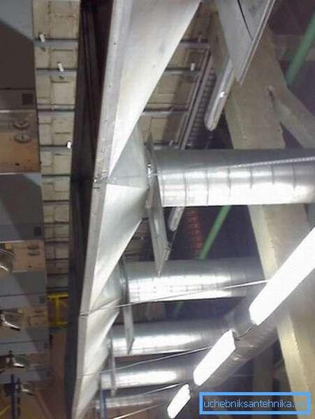 Заводская вентиляционная система