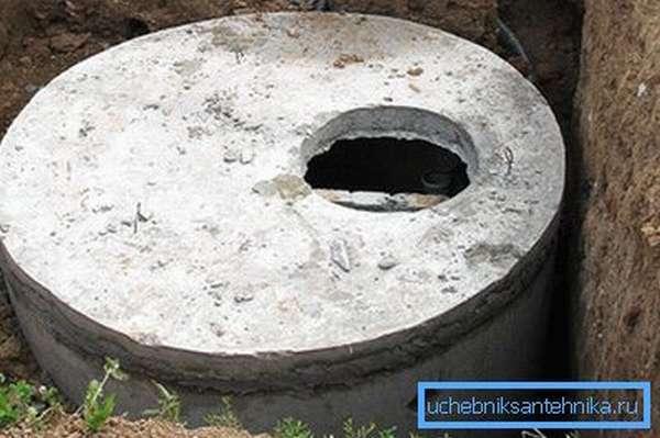 Железобетонный канализационный колодец