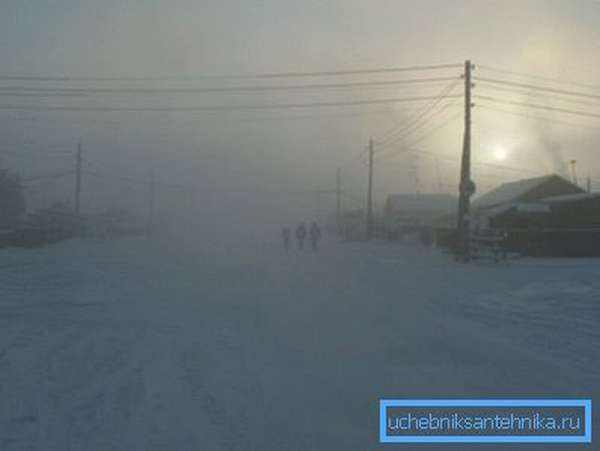 Зима в Верхоянске.