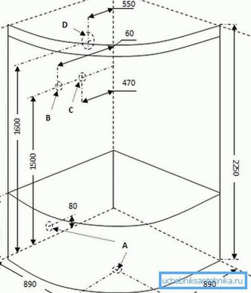 Знание габаритов позволяет спланировать расположение кабинки
